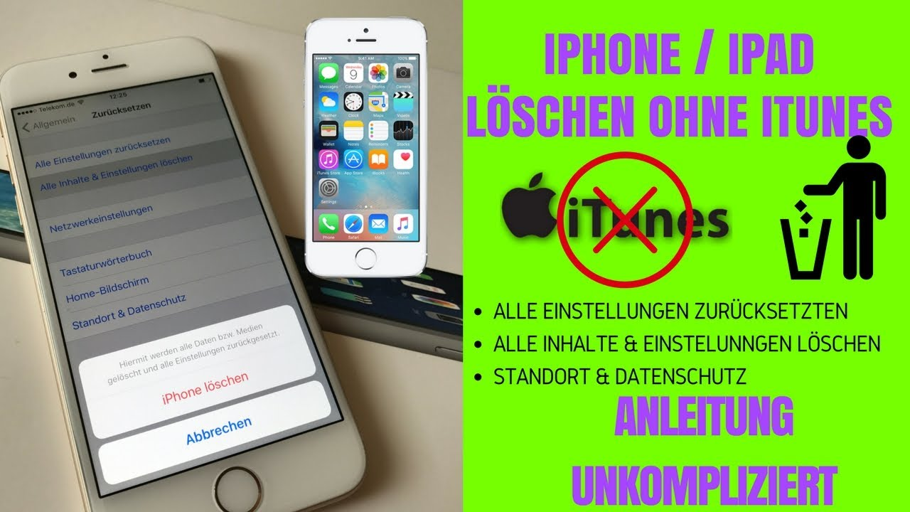 IPhone OHNE ITunes Komplett Löschen Und Auf Werkseinstellung Zurückzusetzen