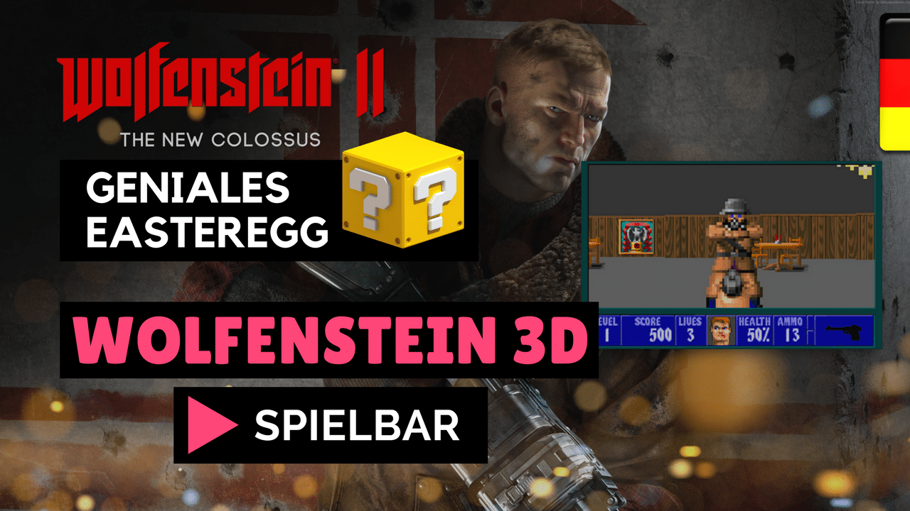 Wolfenstein 2 The New Colossus Easteregg (Classic Wolfenstein 3D Versteckt)
