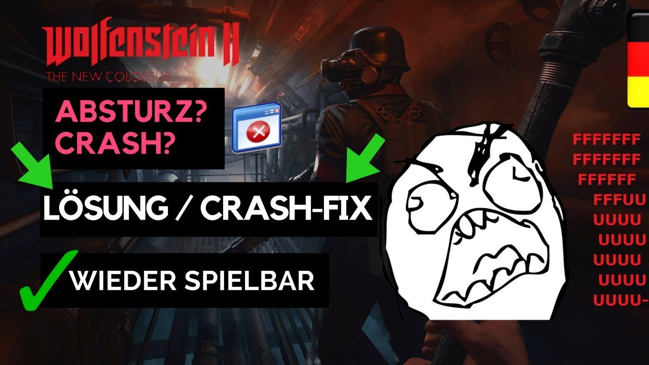 Wolfenstein 2 Crash Fix Lösung